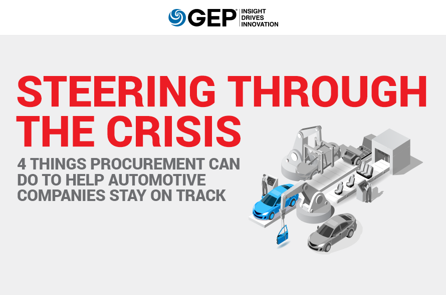 Steering Through the Crisis: 4 Things Procurement Can Do to Help Automotive Companies Stay on Track