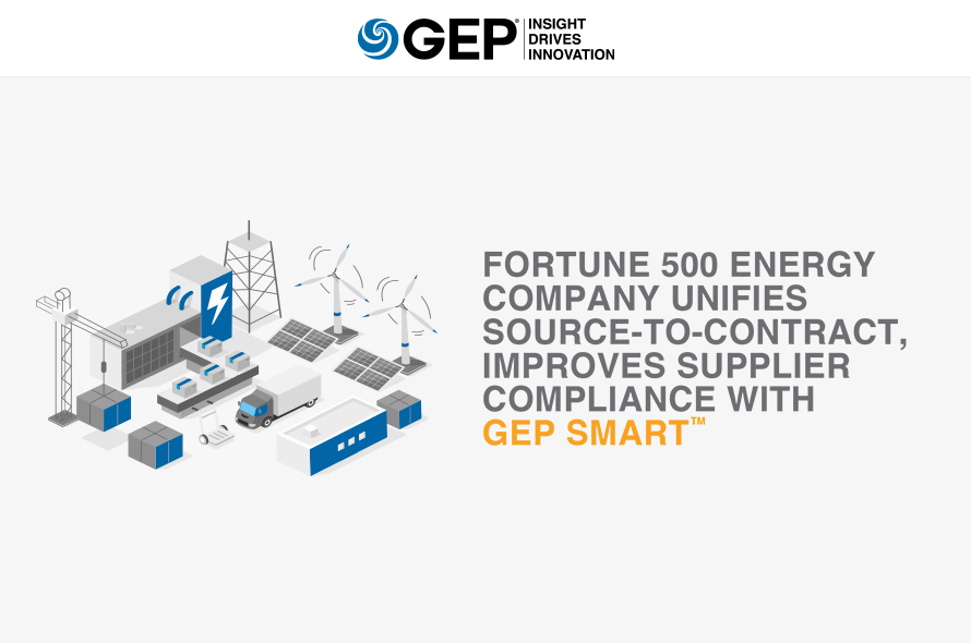 Fortune 500 Energy Company Unifies Source-to-Contract, Improves Supplier Compliance with GEP SMART™