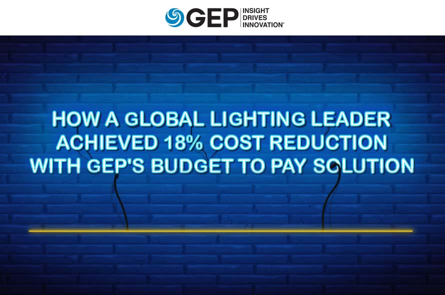 How a Global Lighting Leader Achieved 18% Cost Reduction With GEP