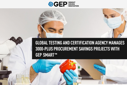 European Testing and Certification Agency Manages 3000-Plus Procurement Savings Projects With GEP SMART