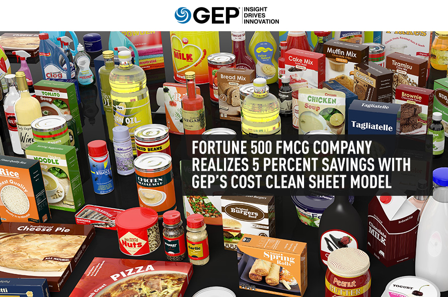 Major FMCG Company Realizes 5 Percent Savings With Cost Clean Sheet Model