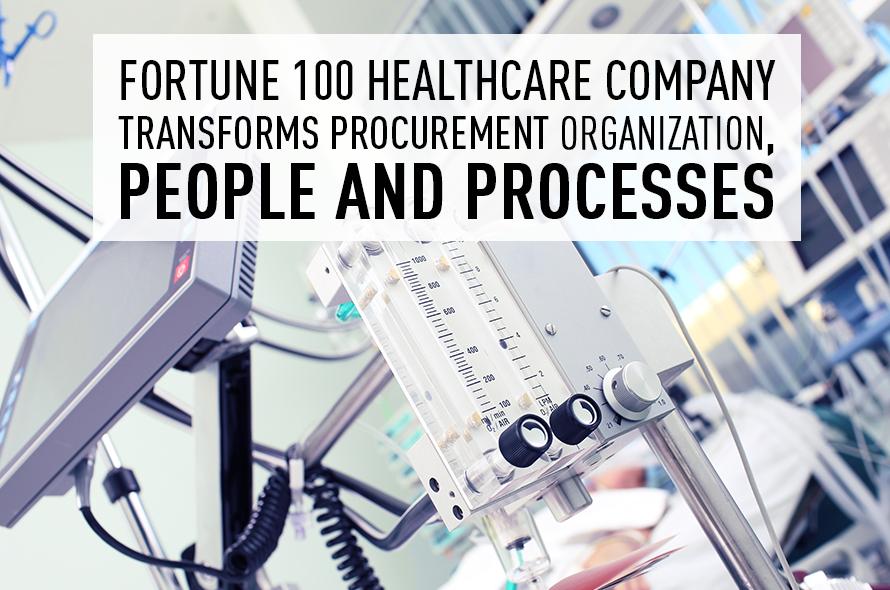 GEP Transforms Fortune 100 Healthcare Company's Procurement Organization