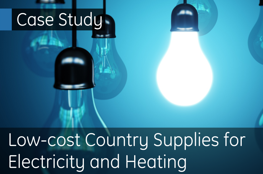 Low Cost Country supplies for electricity and heating