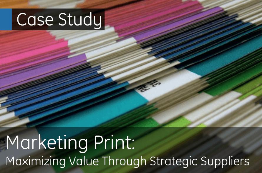 Marketing Print: Maximizing Value through Strategic Suppliers