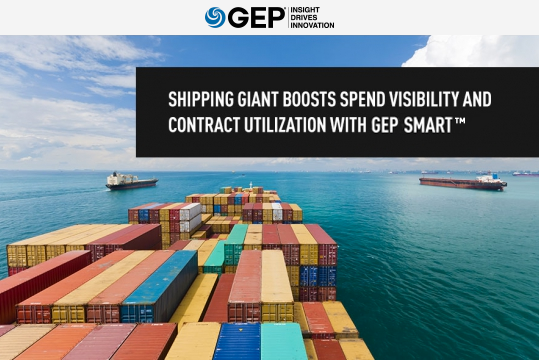 Shipping Giant Boosts Spend Visibility and Contract Utilization With GEP SMART
