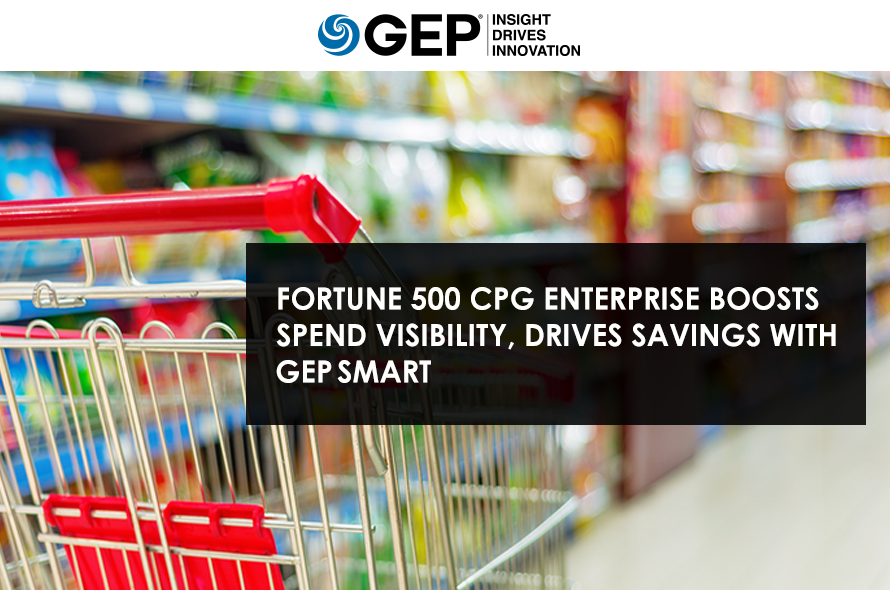 Fortune 500 CPG Enterprise Boosts Spend Visibility, Drives Savings With GEP SMART