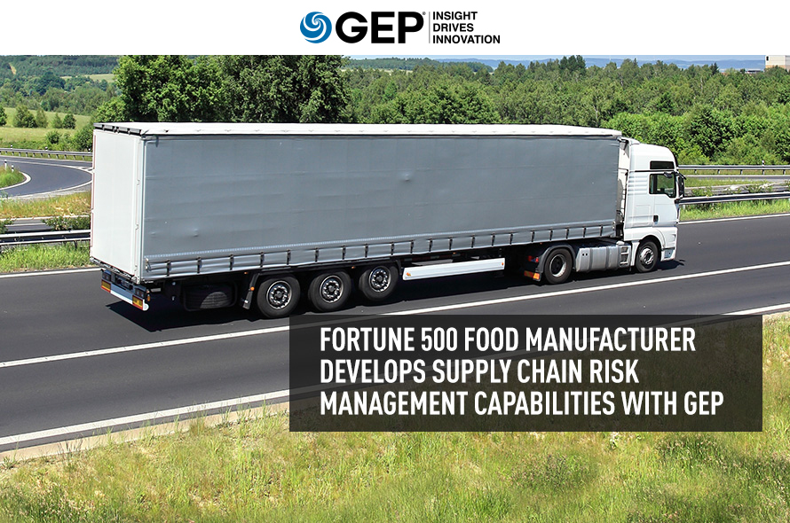 Leading Food Manufacturer Transforms Supply Chain Risk Management