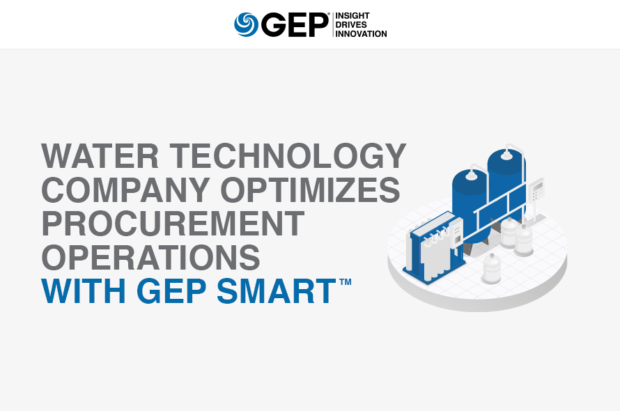 Water Technology Company Optimizes Procurement Operations With GEP SMART