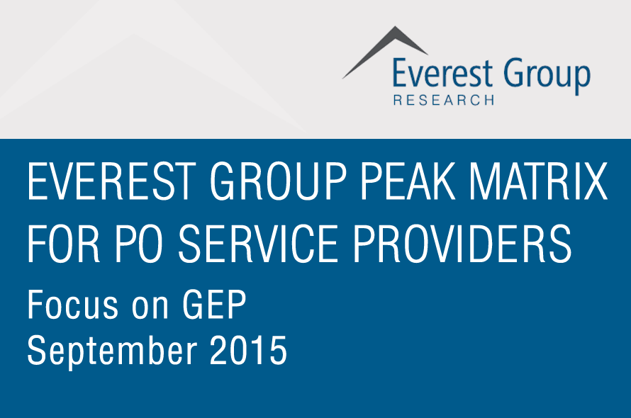 Everest Group Peak Matrix For Procurement Outsourcing Service Providers 2015