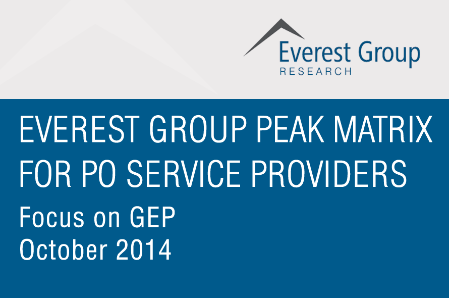 GEP named a Leader and a Star Performer in the 2014 PEAK Matrix for Procurement Outsourcing (PO) Service Providers.