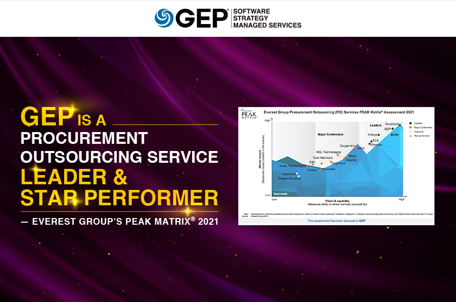 GEP Is a Leader, Star Performer Among Procurement Outsourcing Providers in Everest Group's PEAK Matrix