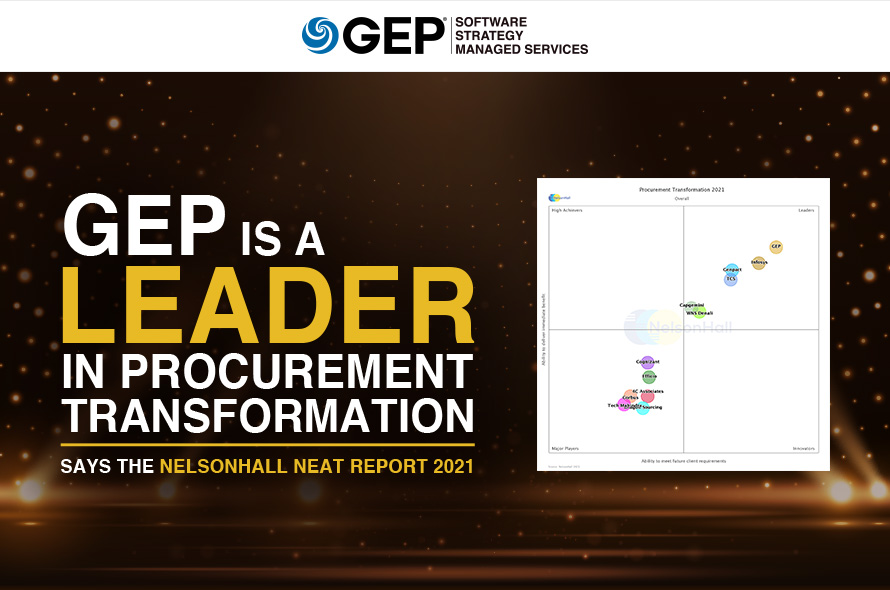 GEP Captures Leader Ranking for Overall Procurement Transformation Capability