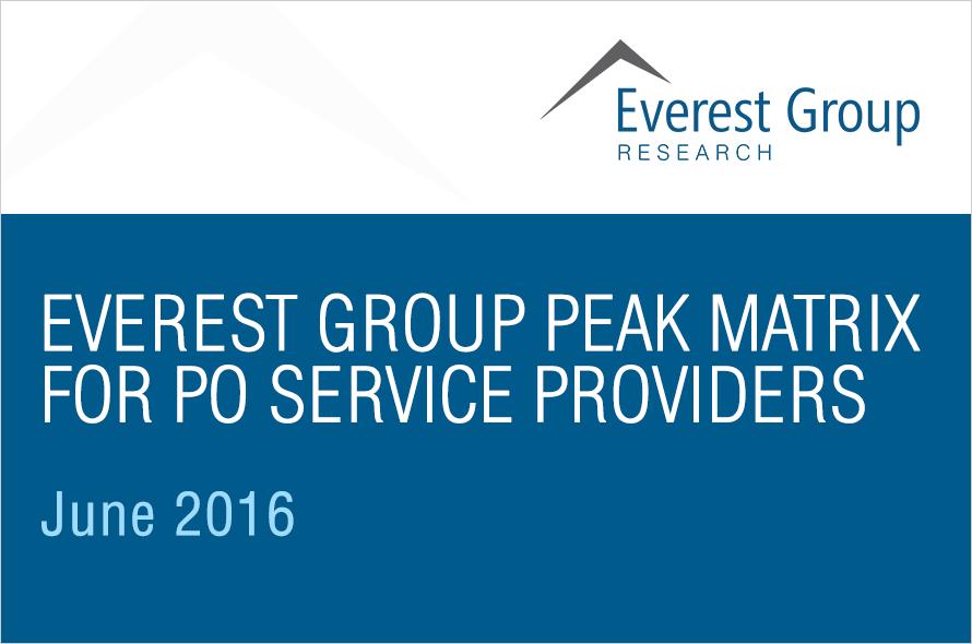 Everest Group PEAK Matrix for Procurement Outsourcing (PO) Service Providers 2016