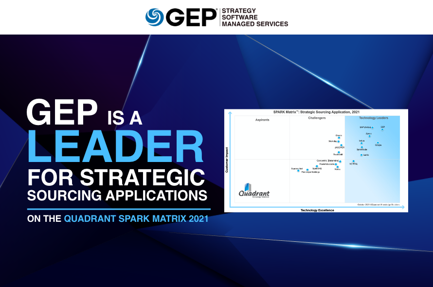 GEP Is the Undisputed Leader for Supply Chain and Procurement Strategic Sourcing Applications