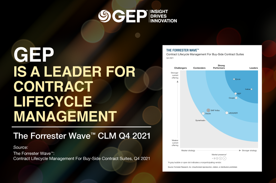 GEP Named a Leader for Procurement Contract Lifecycle Management Software
