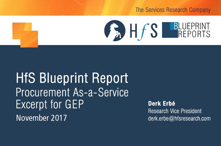 HfS Blueprint Report: Procurement As-A-Service Excerpt for GEP