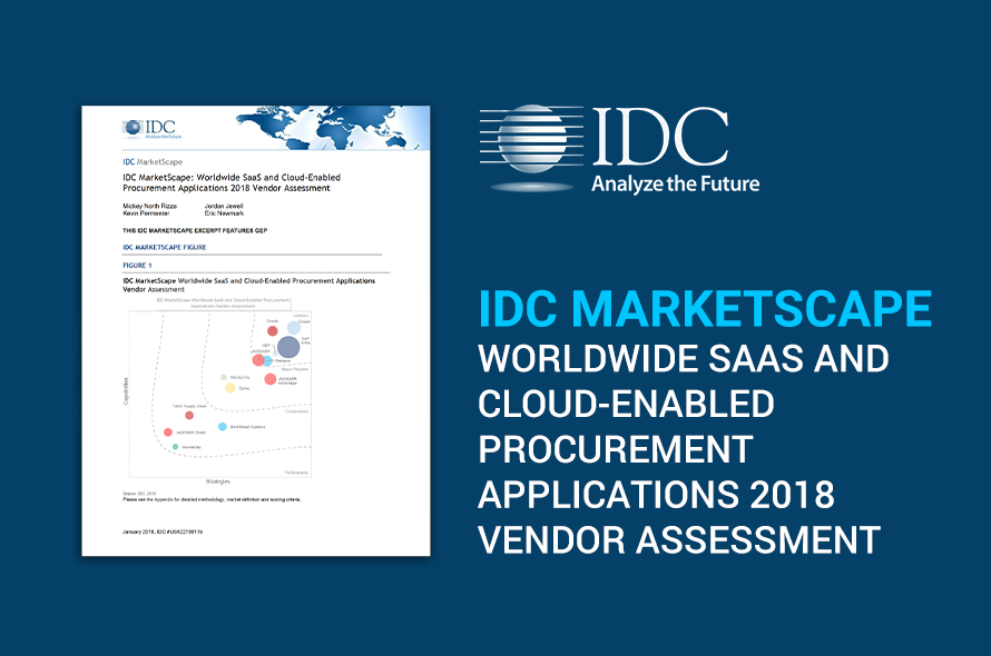 GEP Named Leader in the 2018 IDC MarketScape Vendor Assessment of Worldwide SaaS and Cloud-Enabled Procurement Applications