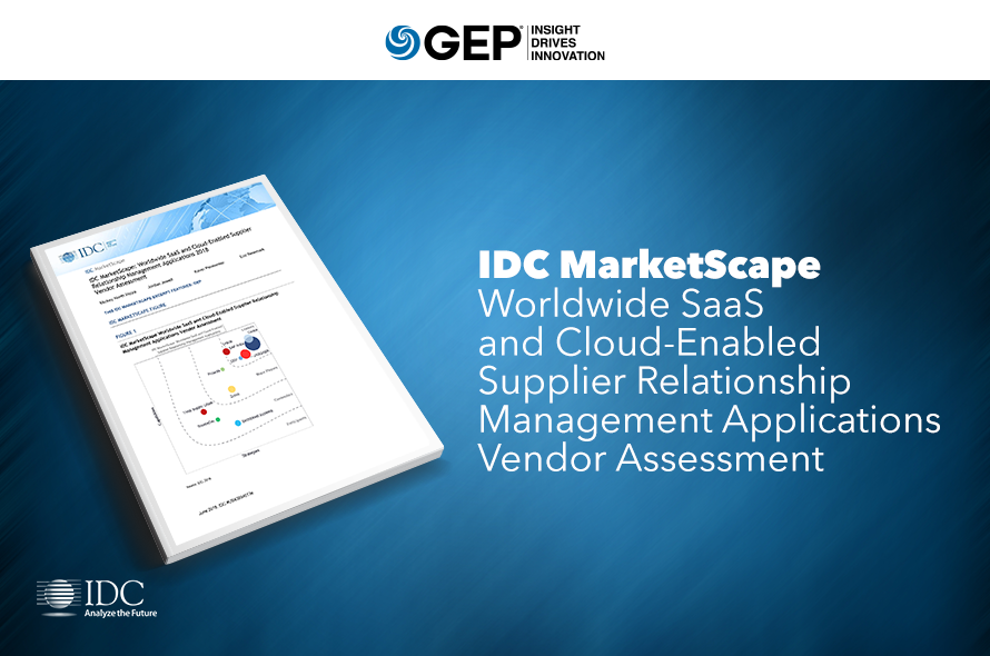 IDC MarketScape: Worldwide SaaS and Cloud-Enabled Supplier Relationship Management Applications 2018 Vendor Assessment