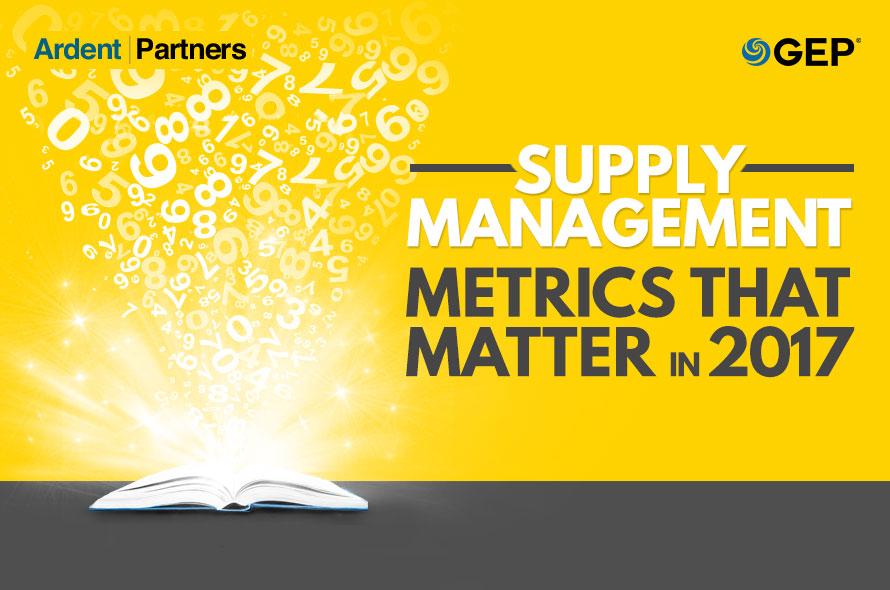 Ardent Partners' Supply Management Metrics that Matter