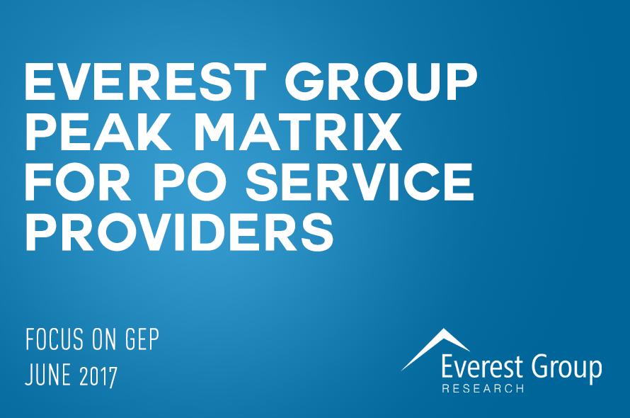 Everest Group PEAK Matrix™ Assessment of Procurement Outsourcing Providers 2017