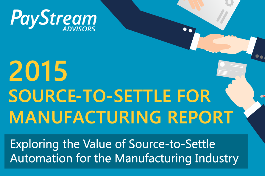2015 Source-to-Settle for Manufacturing Report
