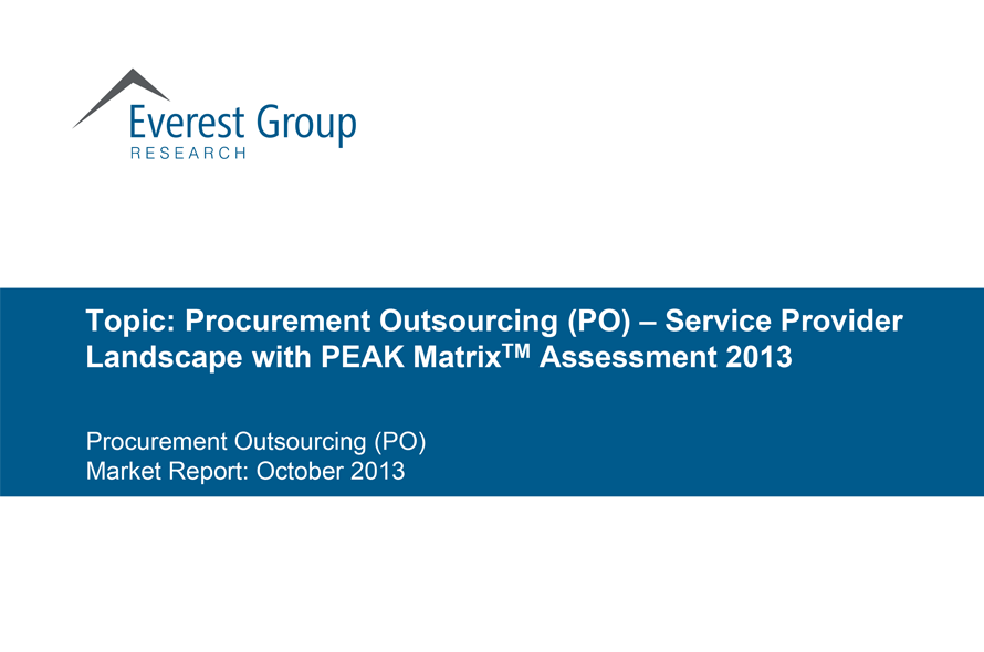 Research Powerhouse Everest ranks GEP as Procurement Outsourcing Leader