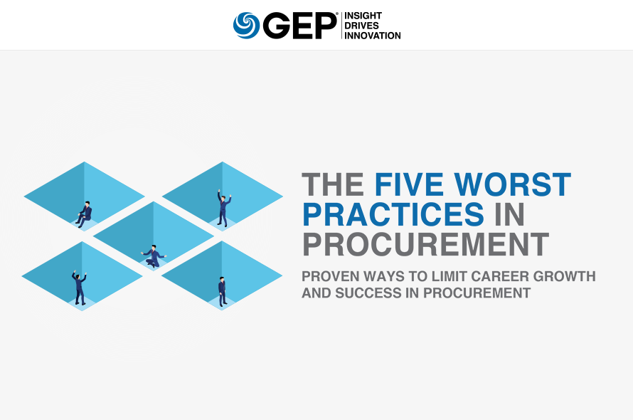The Five Worst Practices in Procurement: Proven Ways to Limit Career Growth and Success in Procurement