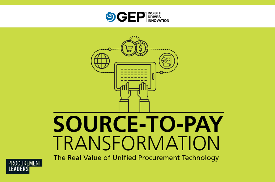 Source-to-Pay Transformation: The Real Value of Unified Procurement Technology
