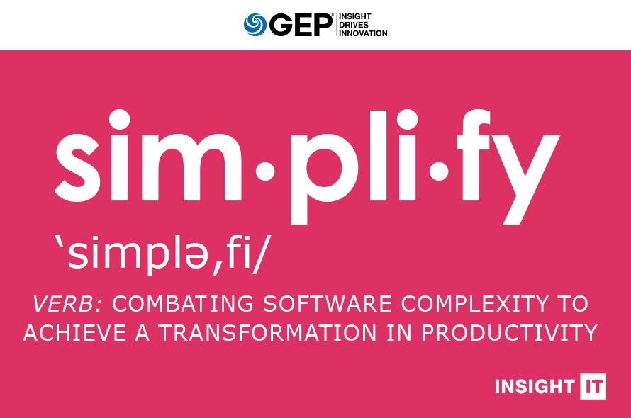Simplify: Combating Software Complexity to Achieve a Transformation in Productivity