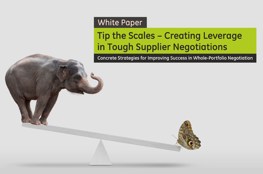 Tip the Scales – Creating Leverage in Tough Supplier Negotiations